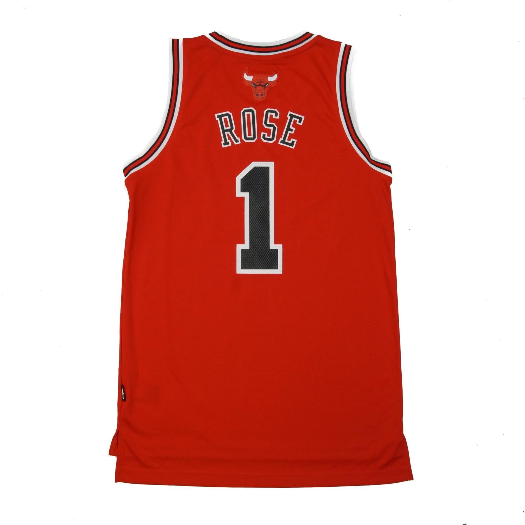 Chicago Bulls Derrick Rose Adidas Red Swingman  1 Jersey  f4d30ed13