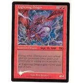 Magic the Gathering Urza's Saga Single Lightning Dragon (Prerelease) Foil - SLIGHT PLAY (SP)