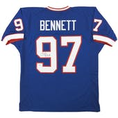 Cornelius Bennett Autographed Buffalo Bills Blue Football Jersey