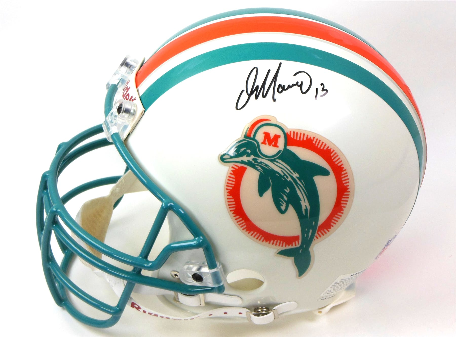 01ff9279d3a Dan Marino Autographed Riddell Miami Dolphins Authentic Proline ...