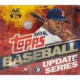 2016 Topps Update Baseball Hobby Jumbo Box