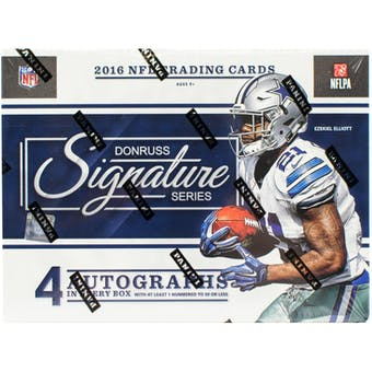 2016 Panini Donruss Signature Series Football 8-Box Case- New Year 32 Spot Random Team Break #1