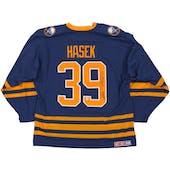 Dominik Hasek Autographed Buffalo Sabres Large Blue Hockey Jersey CCM