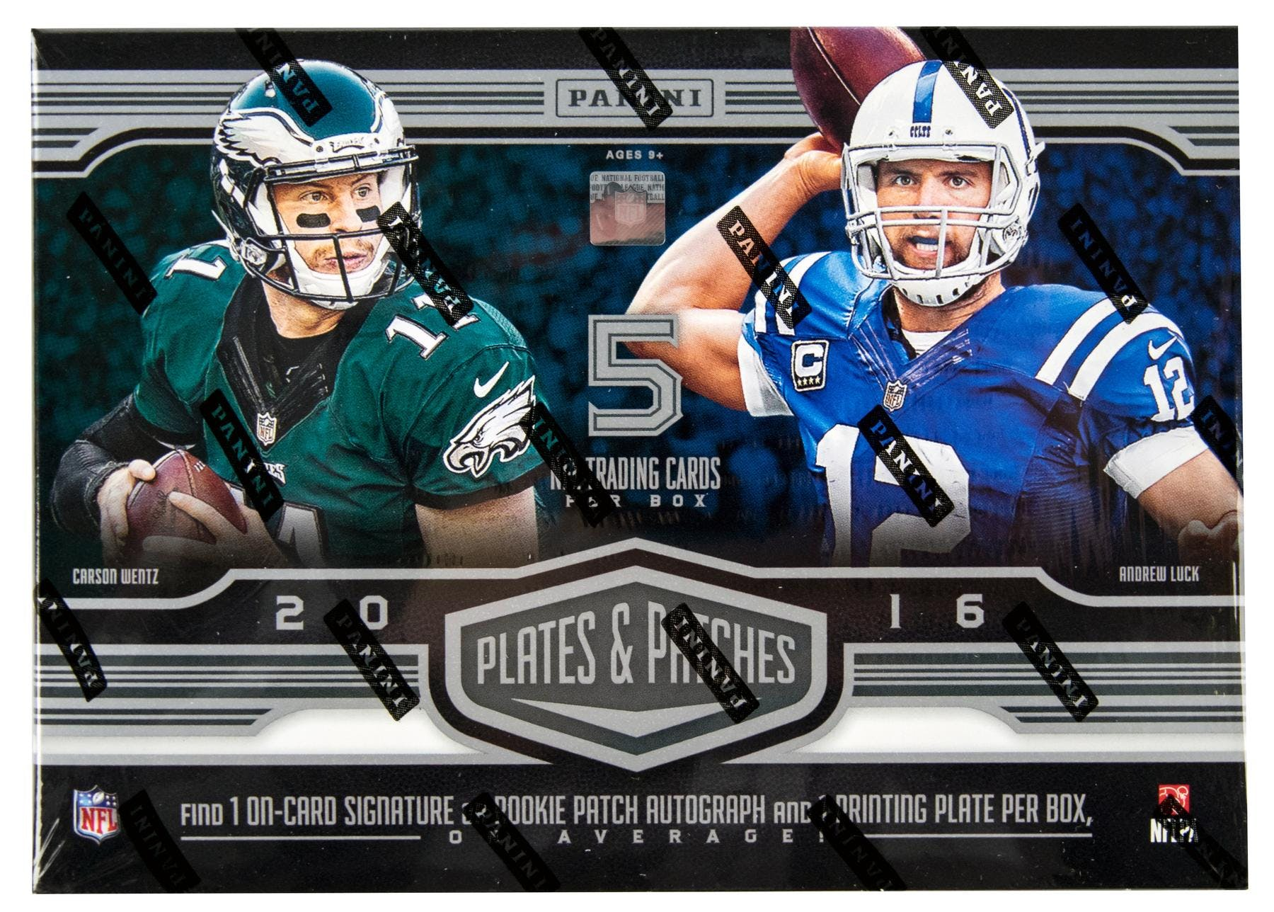 6a3cd1d7be7 2016 Panini Plates and Patches Football Hobby Box