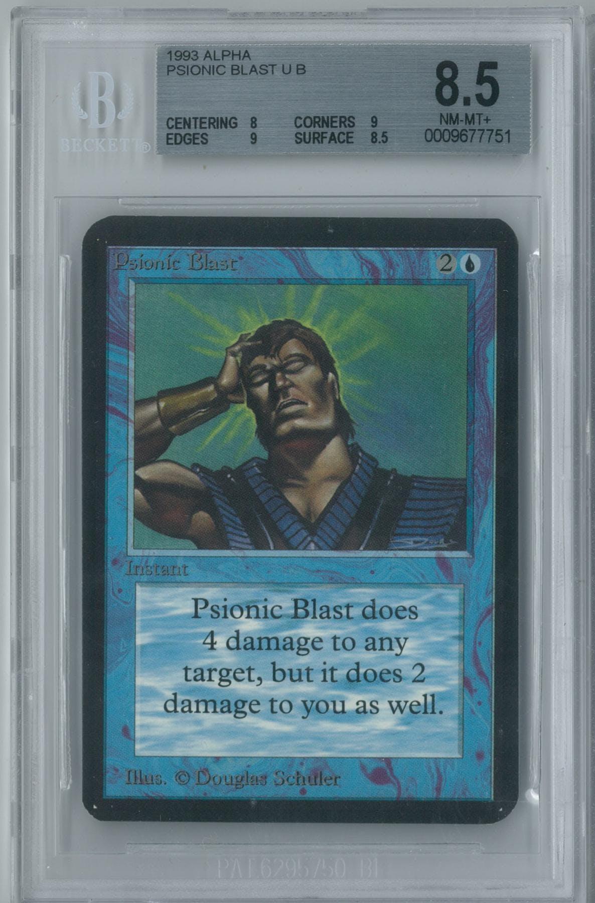 Magic The Gathering Alpha Psionic Blast Single BGS 85 8 9