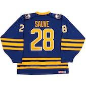 Bob Sauve Autographed Buffalo Sabres Blue Throwback Jersey