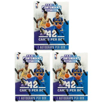 2017/18 Panini Contenders Draft Basketball 7-Pack Blaster Box (Lot of 3)