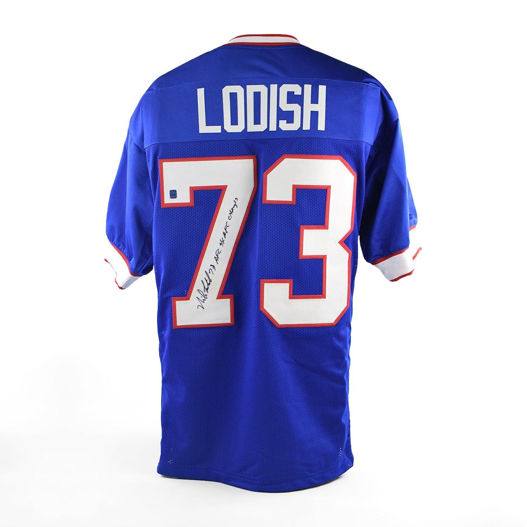 a512e232bda Mike Lodish Autographed Buffalo Bills Football Jersey | DA Card World