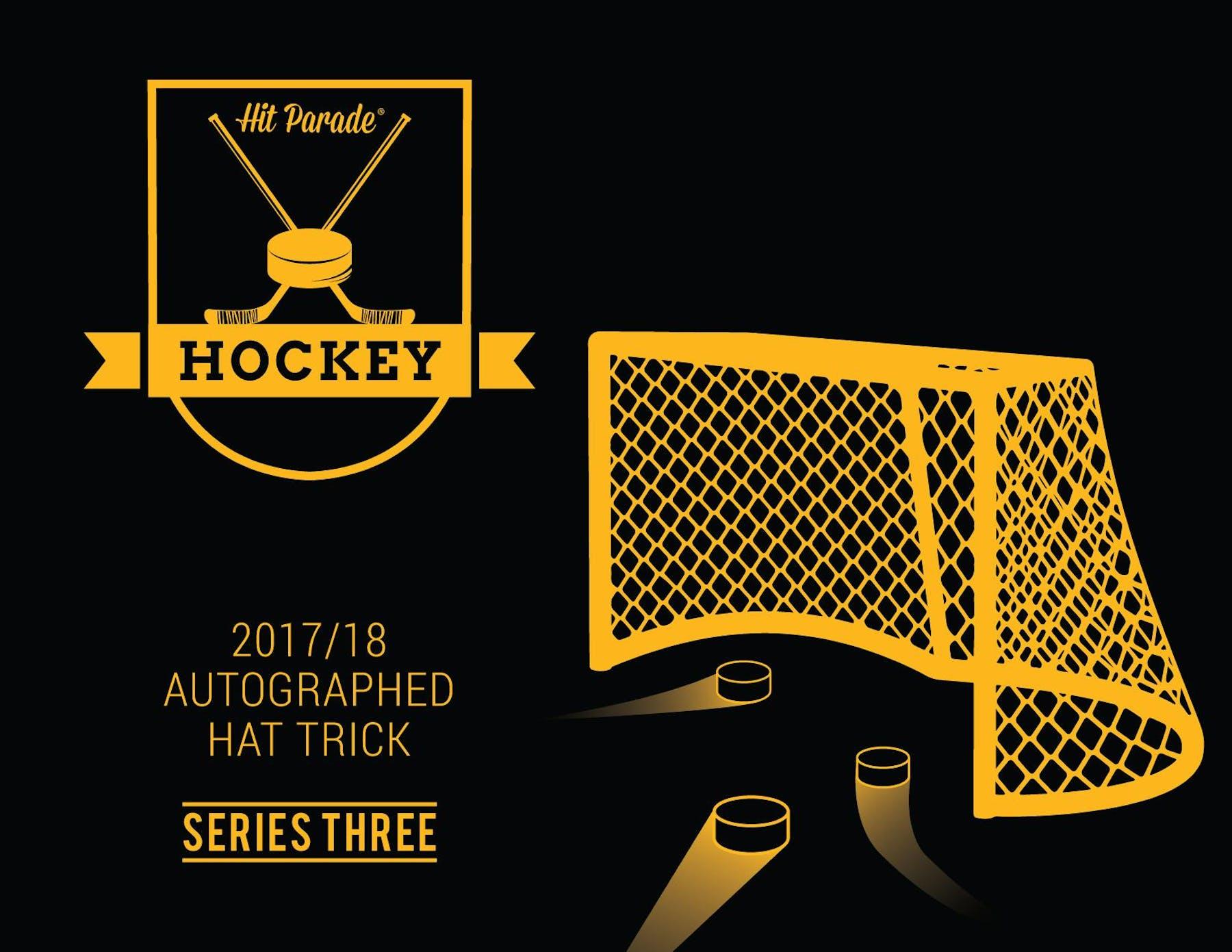 17decea124d 2017 18 Hit Parade Autographed HAT TRICK Hockey Hobby Box ...