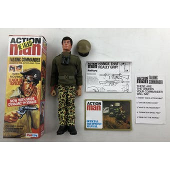 Action Man Original Talking Commander Figure with Repro Box