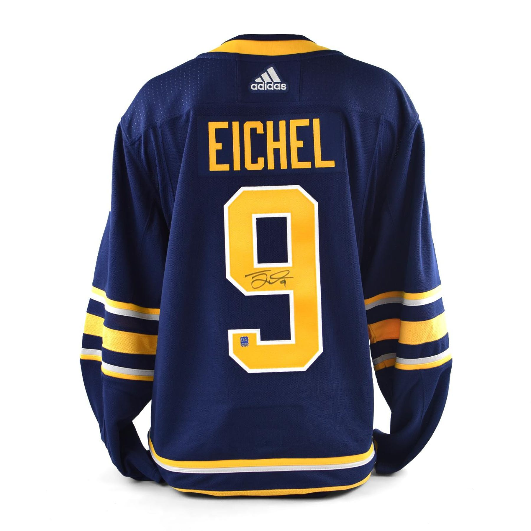 Jack Eichel Autographed  9 Buffalo Sabres Blue Hockey Jersey  26e366324