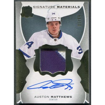 2016/17 The Cup #SIAM Auston Matthews Signature Materials Rookie Patch Auto #02/99