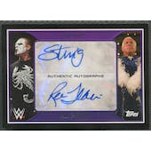 2016 Topps WWE Road to WrestleMania #NNO Sting & Ric Flair Dual Auto #03/11