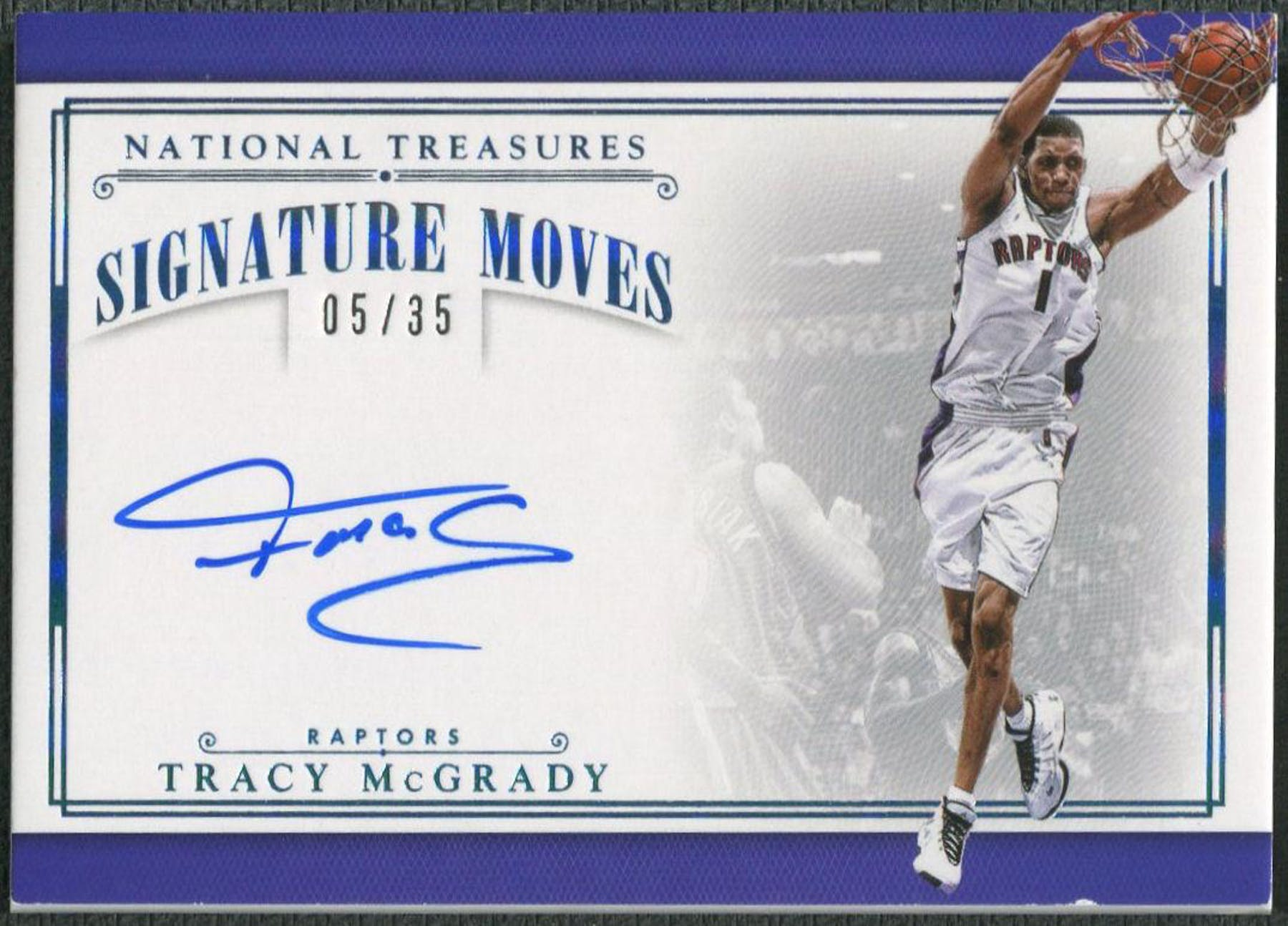 b201b222c581 2015 16 Panini National Treasures  SMTMG Tracy McGrady ...