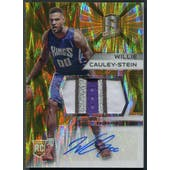 2015/16 Panini Spectra #108 Willie Cauley-Stein Prizms Gold Rookie Patch Auto #06/10
