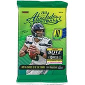 2018 Panini Absolute Football Retail Pack (Lot of 24)