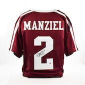 Johnny Manziel Autographed Texas A&M Aggies Football Jersey (JSA)