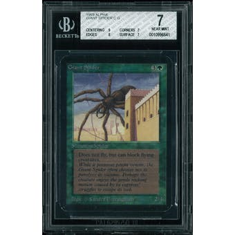 Magic the Gathering Alpha Giant Spider BGS 7 (9, 7, 8, 7)