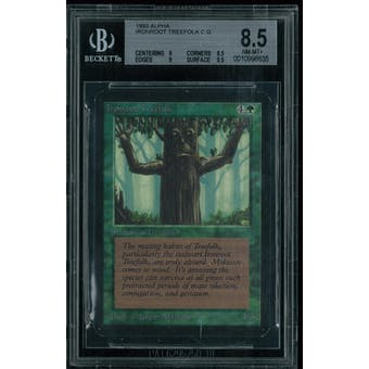 Magic the Gathering Alpha Ironroot Treefolk BGS 8.5 (9, 8.5, 9, 8.5)