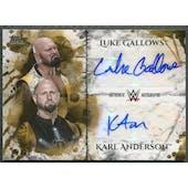 2018 Topps WWE Undisputed #DAGA Karl Anderson & Luke Gallows Dual Gold Auto #05/10