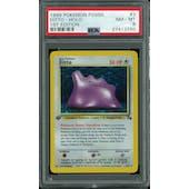 Pokemon Fossil 1st Edition Ditto 3/62 PSA 8