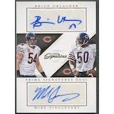 2016 Prime Signatures #25 Brian Urlacher & Mike Singletary Dual Auto #10/10