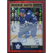 2016/17 O-Pee-Chee Platinum #RBR Connor Brown Red Prism Rookie Auto #41/50