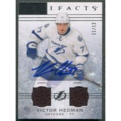 2014/15 Artifacts #69 Victor Hedman Jersey Auto #11/12