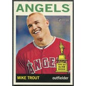 2013 Topps Heritage #430 Mike Trout SP No Hat