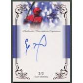 2013 Leaf Trinity Inscriptions #DTIEJ1 Eloy Jimenez Red Rookie Auto #3/3