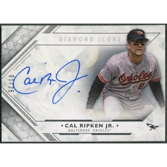 2018 Topps Diamond Icons #DACR Cal Ripken Jr. Diamond Auto #01/25