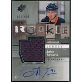 2009/10 SPx #180 John Tavares Rookie Jersey Auto #433/499
