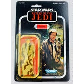 Star Wars ROTJ Han Solo Treach Coat Plain Lapel 79 Back Carded Figure