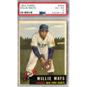 1953 Topps Baseball #244 Willie Mays PSA 4 (VG-EX) *5118