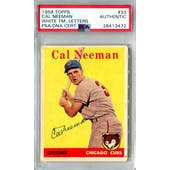 1958 Topps Baseball #33 Cal Neeman WL PSA/DNA Authentic Signed Auto *3472