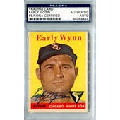 1958 Topps Baseball #100 Early Wynn WL PSA/DNA Signed Auto *9654