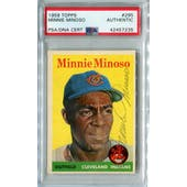 1958 Topps Baseball #295 Minnie Minoso PSA/DNA Authentic Signed Auto *7235