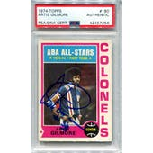 1974/75 Topps Basketball #180 Artis Gilmore PSA/DNA Authentic Signed Auto *7256