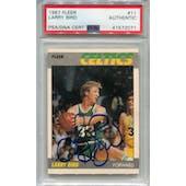 1987/88 Fleer Basketball #11 Larry Bird PSA/DNA Authentic Signed Auto *2071