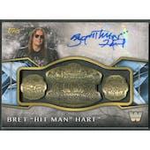 "2017 Topps Legends of WWE #ARCBR Bret ""Hit Man"" Hart Retired Championship Belt Relic Auto #41/99"