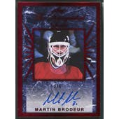 2017/18 Leaf #DSAMB1 Martin Brodeur The Distinguished Series Signatures Auto #2/6