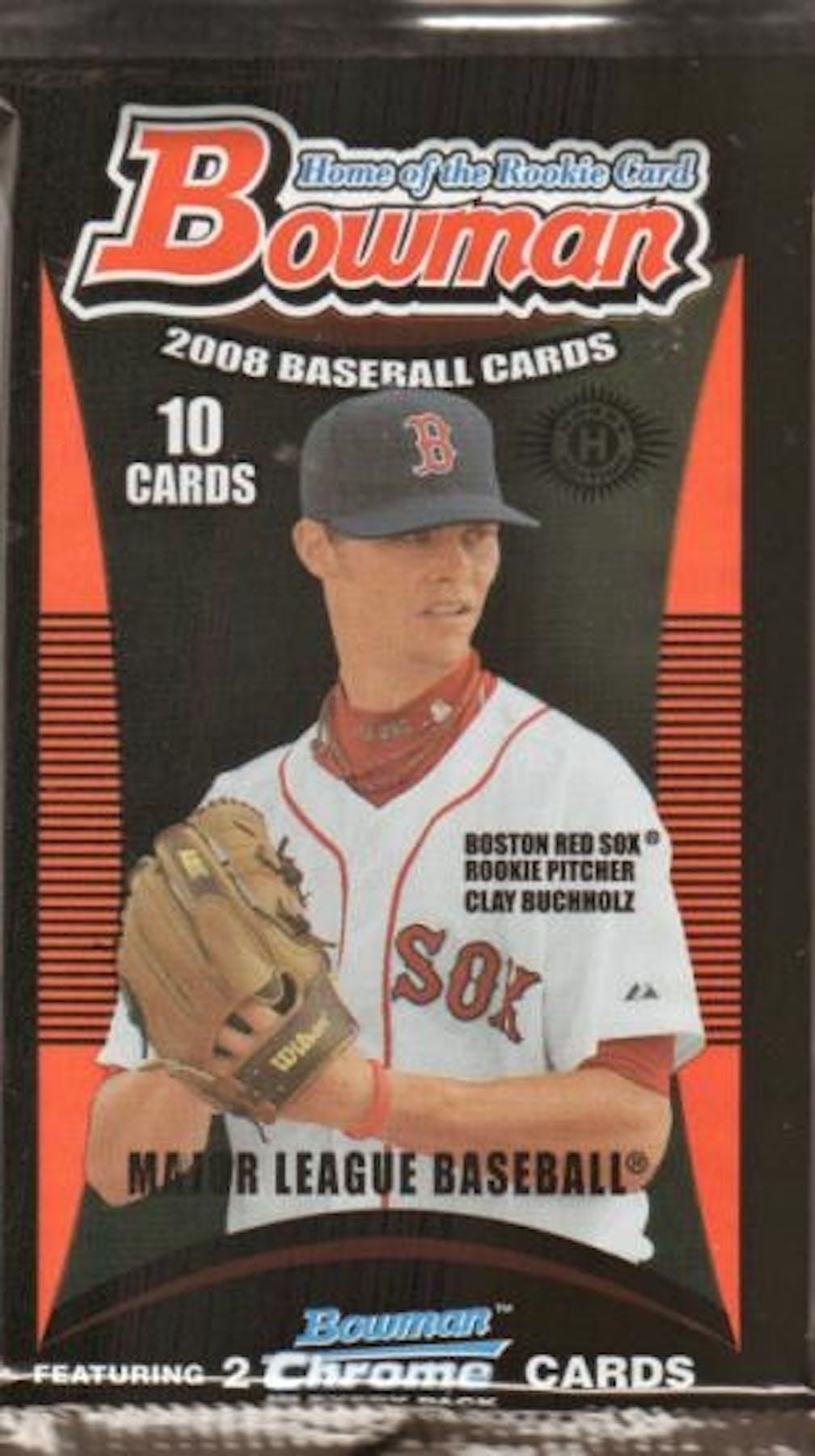2008 Bowman Baseball Hobby Pack Da Card World