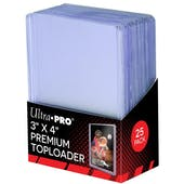 Ultra Pro 3x4 Premium Toploaders ( 25 count pack )
