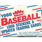 1988 Fleer Update Baseball Factory Set