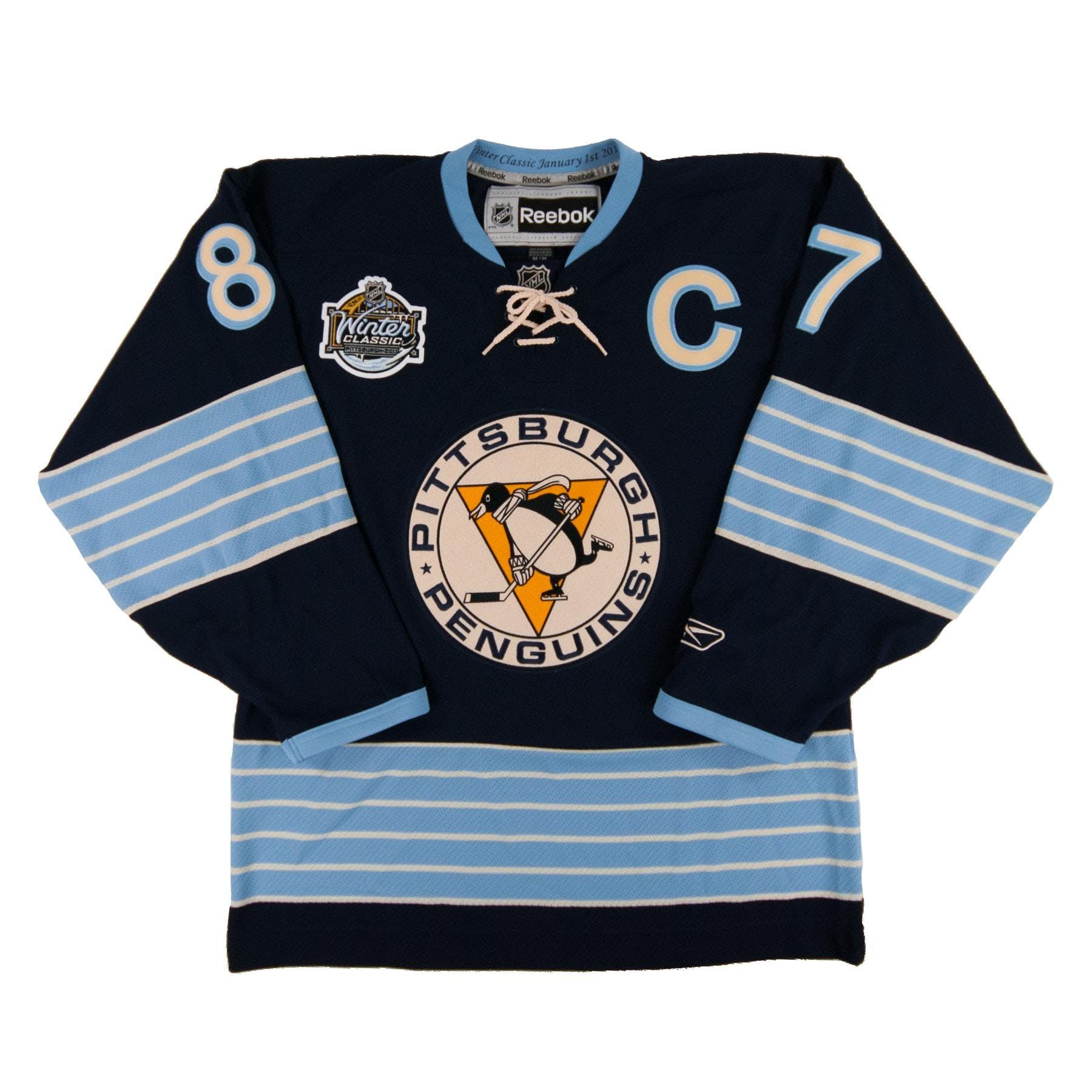 a5d1d0c80 Pittsburgh Penguins  87 Sidney Crosby Reebok Navy Winter Classic 2011  Premier Jersey