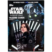 Star Wars Rogue One Series 1 10-Pack Box (Topps 2016) (One Medallion Per Box!)
