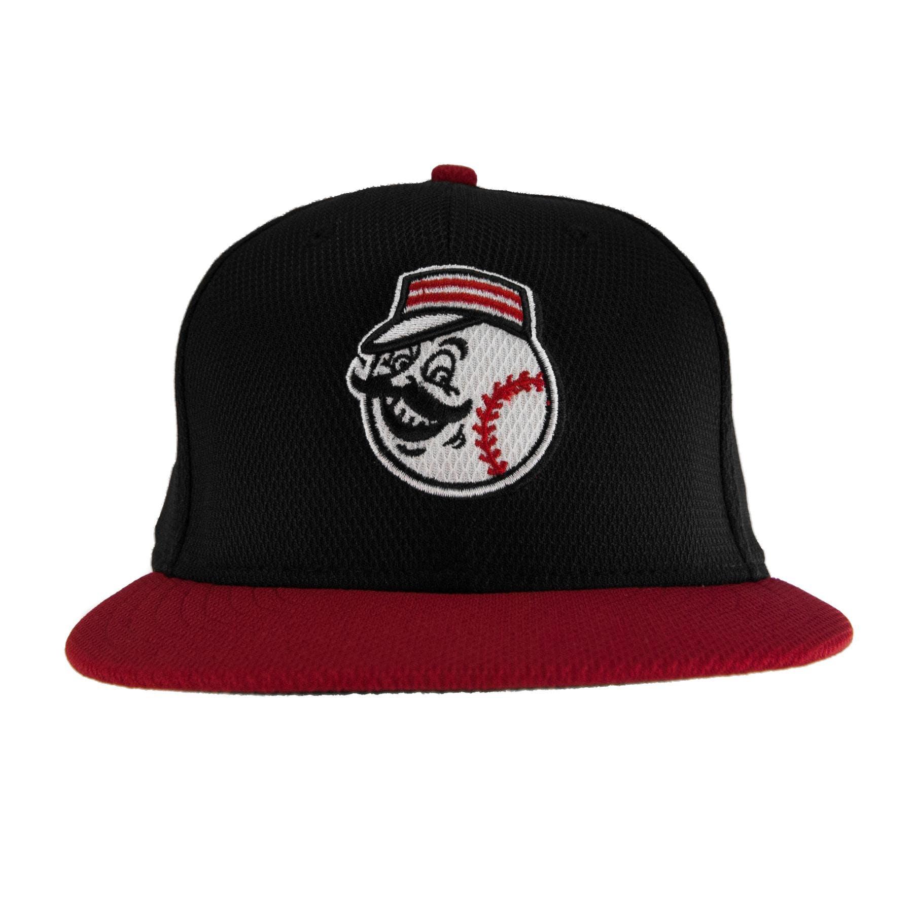 d58f565b83cad Cincinnati Reds New Era Retro Black Diamond Era 59Fifty Fitted Hat ...