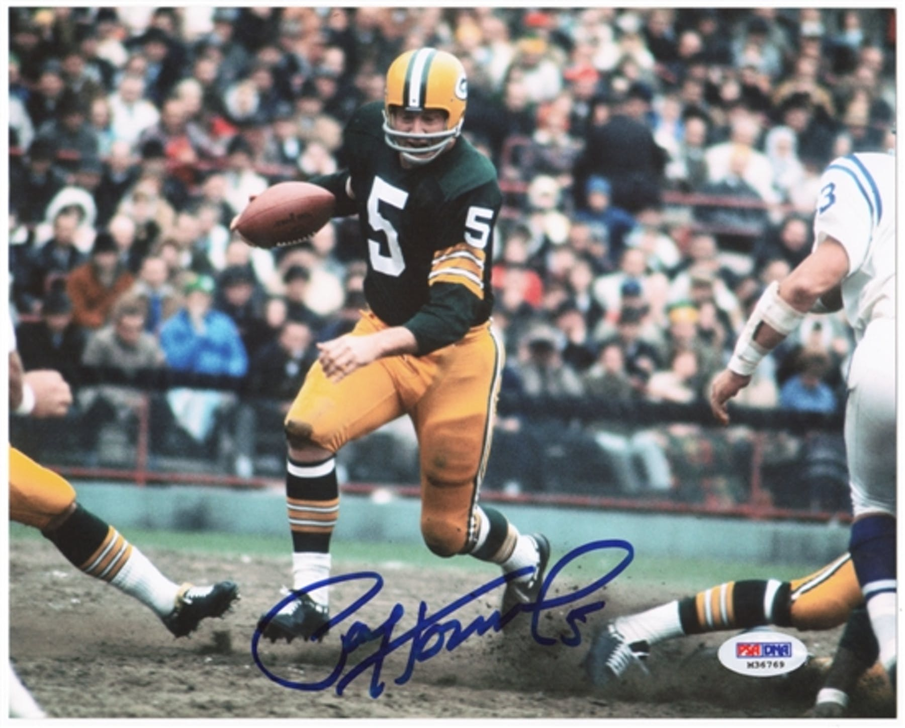 15dfdb19428 Paul Hornung Autographed Green Bay Packers 8x10 Photo (PSA COA)