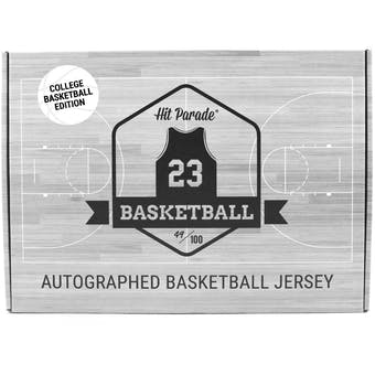 2018/19 Hit Parade Autographed College Basketball Jersey Hobby Box - Series 1 - Kevin Durant & Allen Iverson!!