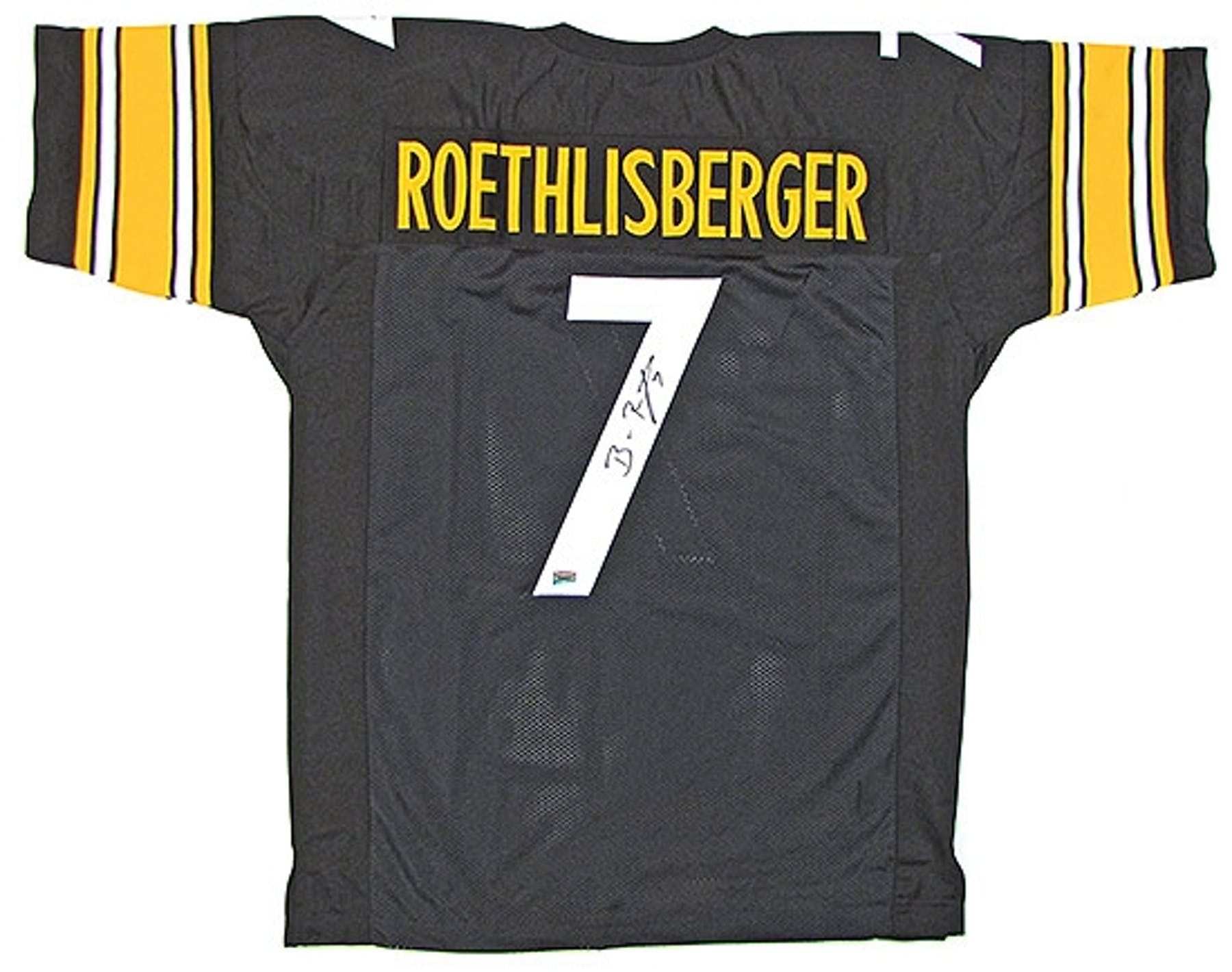 80ce909201e Ben Roethlisberger Autographed Pittsburgh Steelers Black Jersey ...